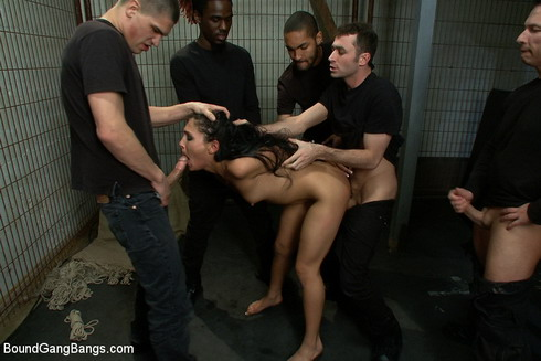 Cool bdsm fuck with group of men