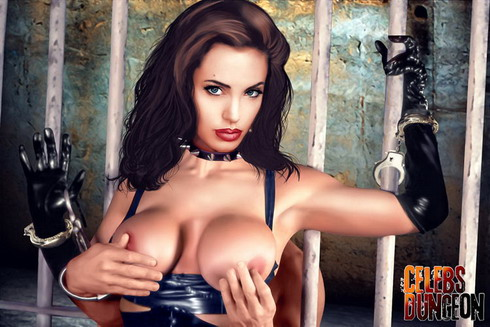 Angelina Jolie like BDSM sexy demon