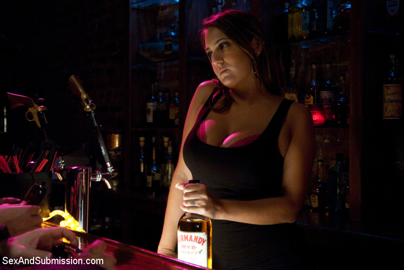 Busty barmaid